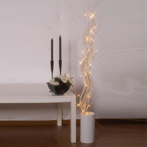 Leucht-Äste Willow, weisse Weidenzweige, 115 x 10 cm, 50 Micro Bulbs