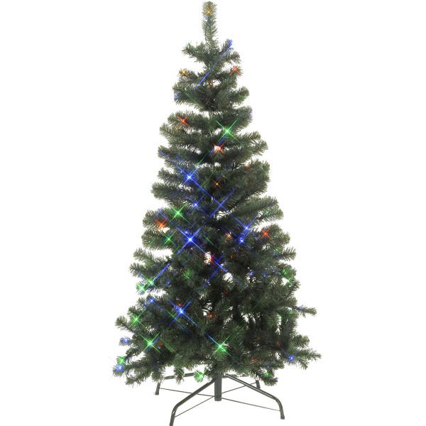 Weihnachtsbaum Ottawa, H150, Ø 80cm, 112 LED bunt, outdoor