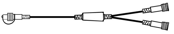 System Decor LED Verteiler Extra, 50 cm, Kabel schwarz