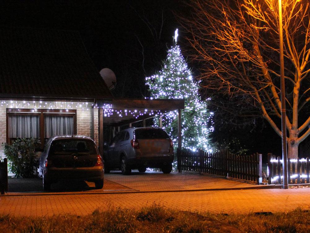 Leuchtbaum mit kaltweissem Licht