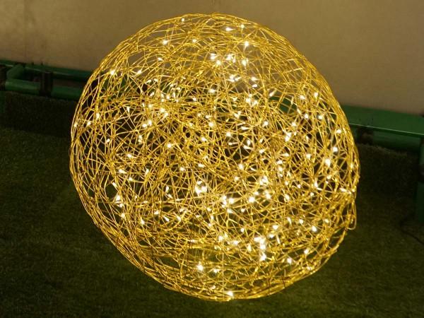 Weihnachtliche Leuchtkugel Galax 80x80cm, gold, 6W, 200 LED, outdoor