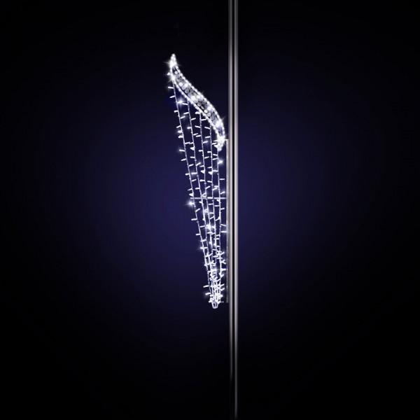 Lichtdesign Monaco 220, H220, B60cm, kaltweiss, mit Glitter, Pfostenmontage