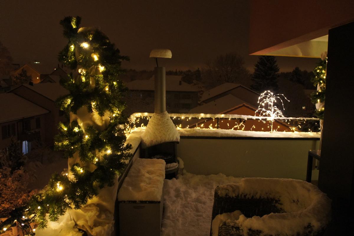 Kombination Lichterketten mit Tobby Bäumen