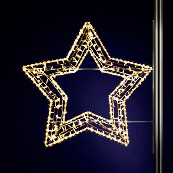 Leuchtstern Gabbi 100, H100, B120 cm, warmweiss, Strassenlichter, Pfostenmontage