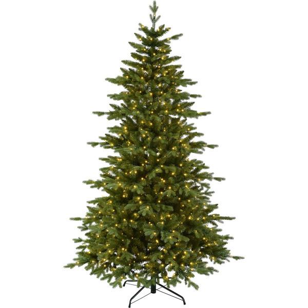 Weihnachtsbaum künstlich Larvik H210cm B136cm 600 LED, grün outdoor