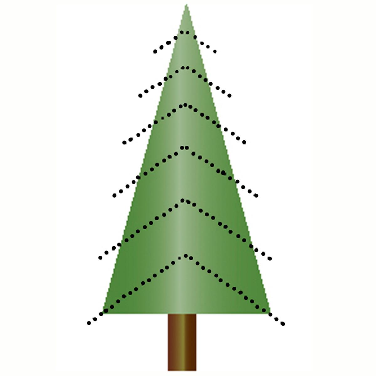 Tannenbaum Aeste nach unten gebogen