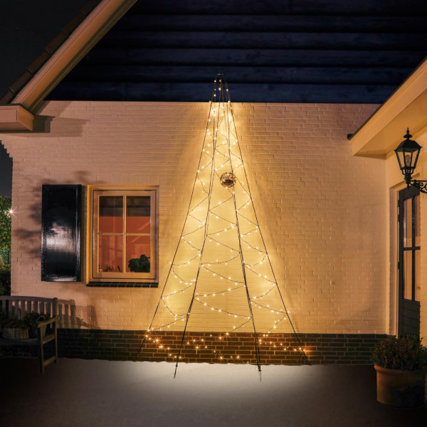 Fairybell Weihnachtsbaum H400cm, 240 LED, 180° Wandmontage