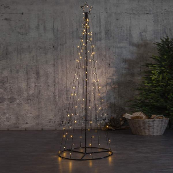 Lichterkettenbaum H210cm 170 LED davon 17 blinkend mit Mast und Bodenring