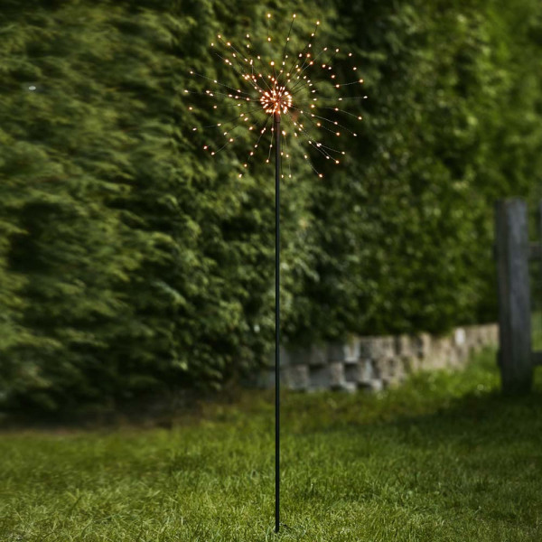 Gartendeko Feuerwerk Pusteblume, warmweiss, 160 LED, H110 Outdoor-