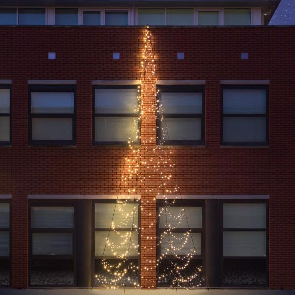 Fairybell Weihnachtsbaum H800cm, 750 LED, 180° Wandmontage