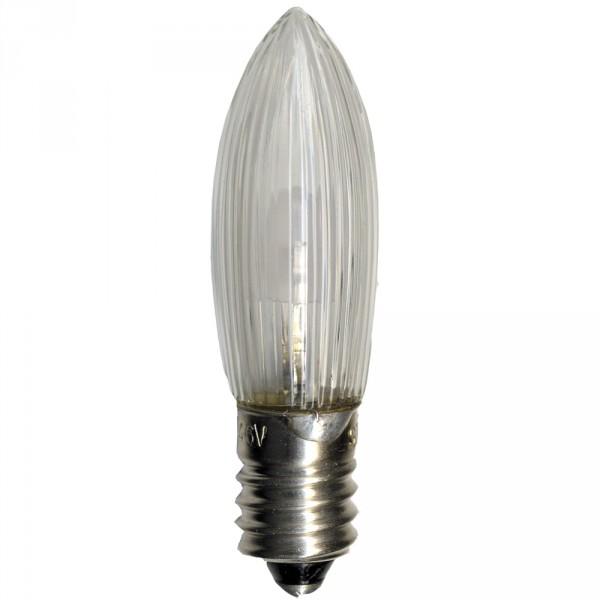 LED Birne, klar, E10, 10-55 Volt, 0,1 Watt, 3 Stück