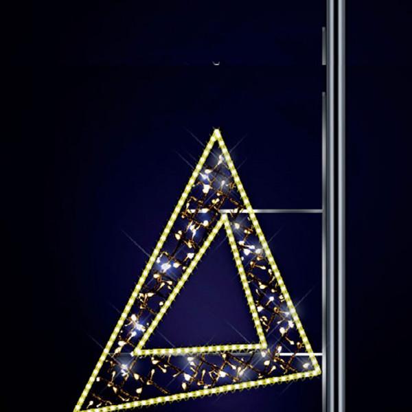 Lichtdesign Artemis 150, H150, B140cm, warmweiss, Pfostenmontage