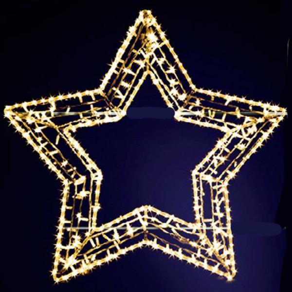 Leuchtstern Gabbi 100, H100, B105cm, warmweiss, Fassadenmontage