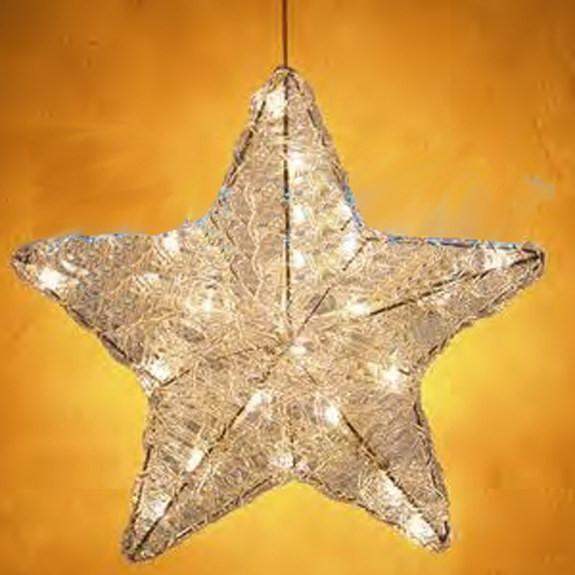 Leuchtstern Kristall, Ø 24.5 cm, geschlossener Stern