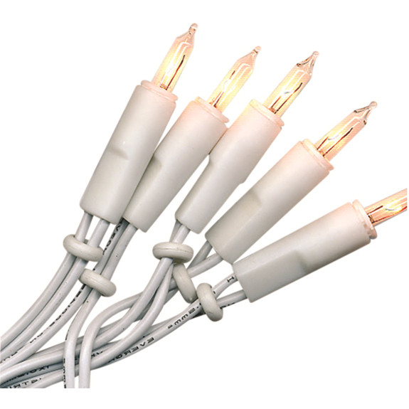 Lichterkette Mini, 20 Push in Birne, Kabel weiss, Indoor,