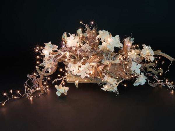 Ivy Lichterkette 900cm, silber, 400 LED warmweiss, Indoor, Stromanschluss