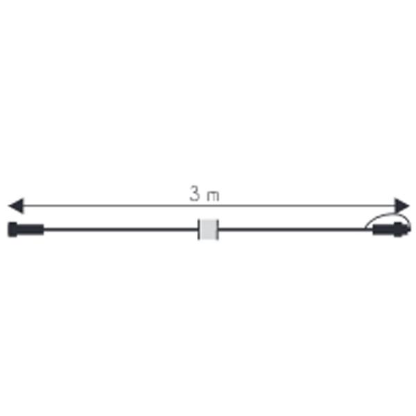 Verbinder Kabel, 300cm, max 1800W, schwarz