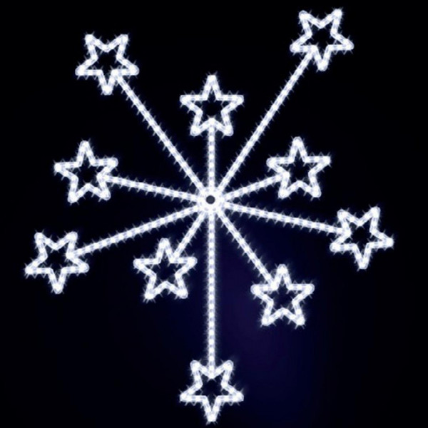 Weihnachtsstern Fireworks 200, H200, B175cm, kaltweiss, Wandmontage