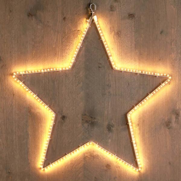Weihnachtsstern Stern mit Lichtschlauch smd 55cm