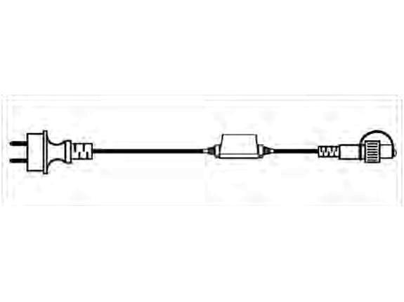 System LED Profi Anschlusskabel Start, 180 cm, 230 Volt, Kabel schwarz