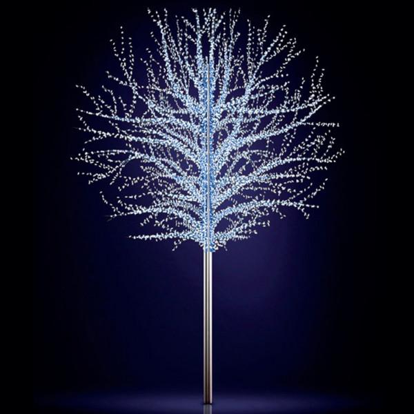 Leuchtbaum Baltic 300, H300, B330, L330 cm, kaltweiss, 6 Äste, 3D, leicht blinkend, ohne Stange