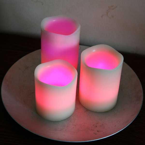 Flammenlose Kerzen für schöne Atmosphäre