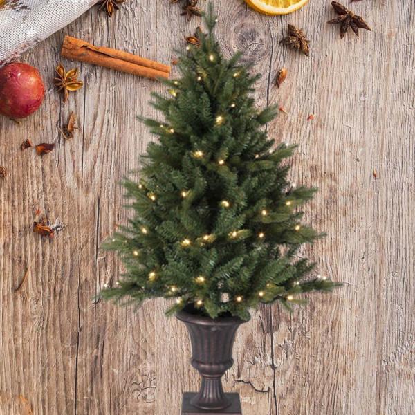 Weihnachtsbaum künstlich Byske H120cm B80cm 80 LED grün outdoor