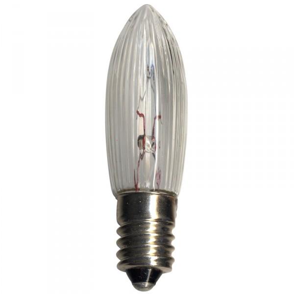 Leuchtmittel, Candle Bulb clear, 24 Volt, 1.8 Watt, Fassung E 10, 3-er Set