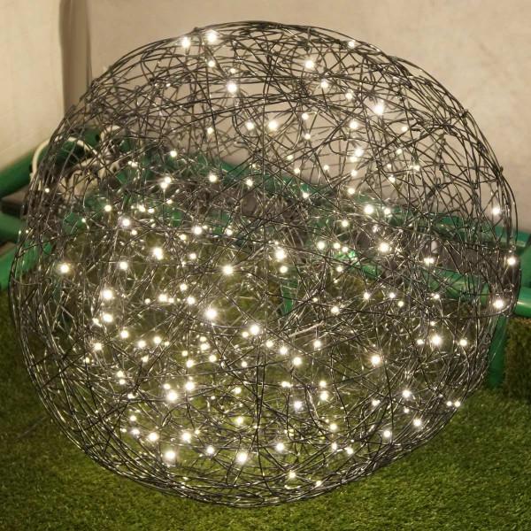 Weihnachtliche Leuchtkugel Galax 80x80cm, schwarz, 6W, 200 LED, outdoor