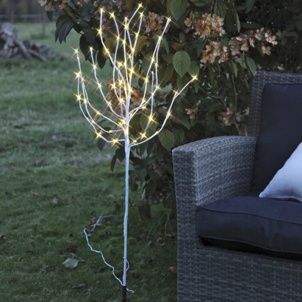 Tobby Baum, weiss, Höhe 110 cm, 70 LED warmweiss, outdoor