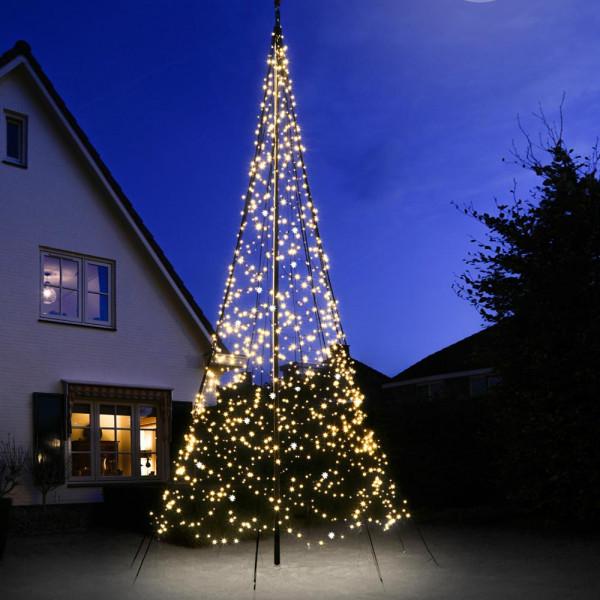 Fairybell Weihnachtsbaum H600cm, 1200 LED, flash, für Fahnenstange, Mast optional