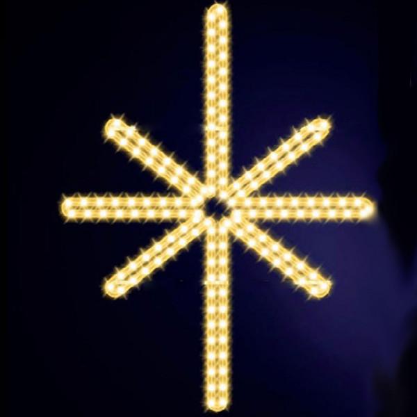 Leuchtstern Ardis 100, H100, B80cm, warmweiss, Wandmontage