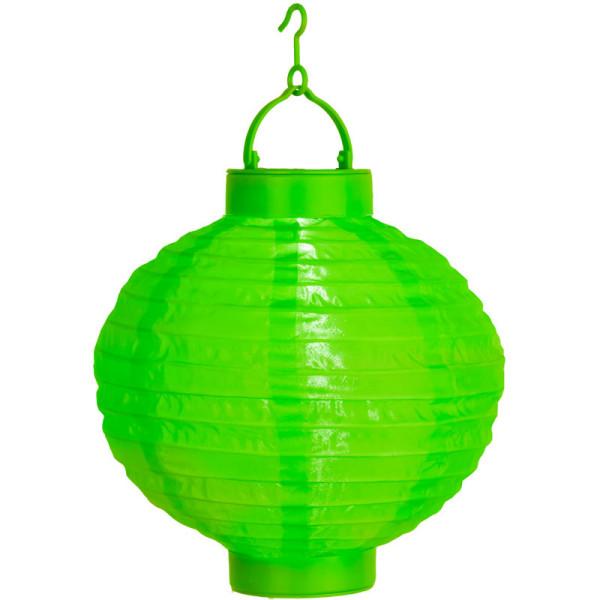 Solarlampion grün, 1 LED kaltweiss, Solarpanel, Akku, Montagehaken