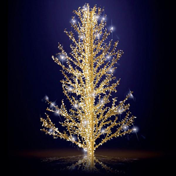 Weihnachtsbaum Sasha 300, H300, B190, L190cm, warmweiss, 5 Äste, 3D, leicht blinkend, ohne Stange