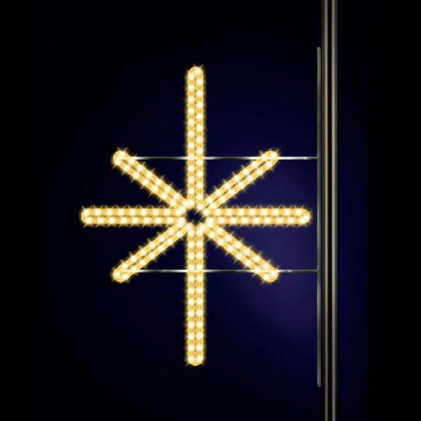 Leuchtstern Ardis 100, H100, B100cm, warmweiss, Strassenbeleuchtung, Pfostenmontage