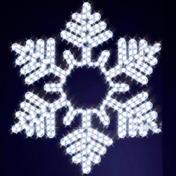 Schneeflocke Snowflake 90, H90, B80cm, kaltweiss, Wandmontage