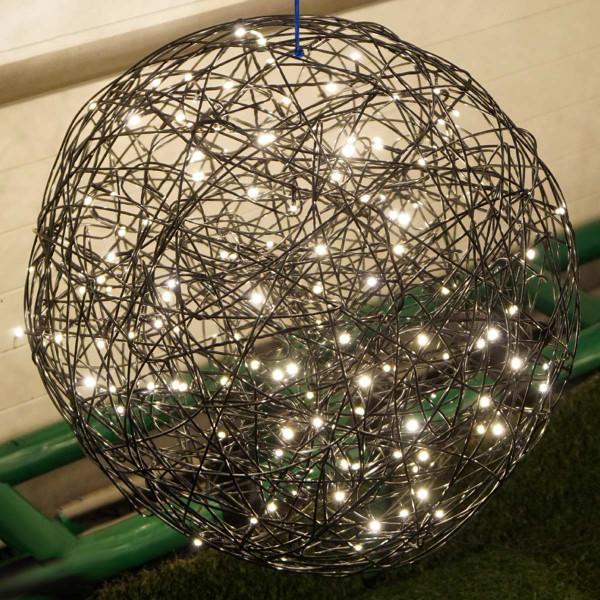 Weihnachtliche Leuchtkugel Galax, 50x50cm, schwarz, 5,4W, 150 LED, outdoor-Copy