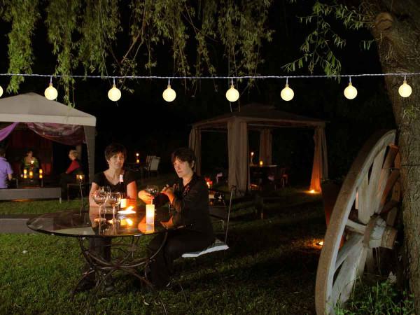 Partylichterkette, 50 warmweisse LED Kugeln, 10 Meter