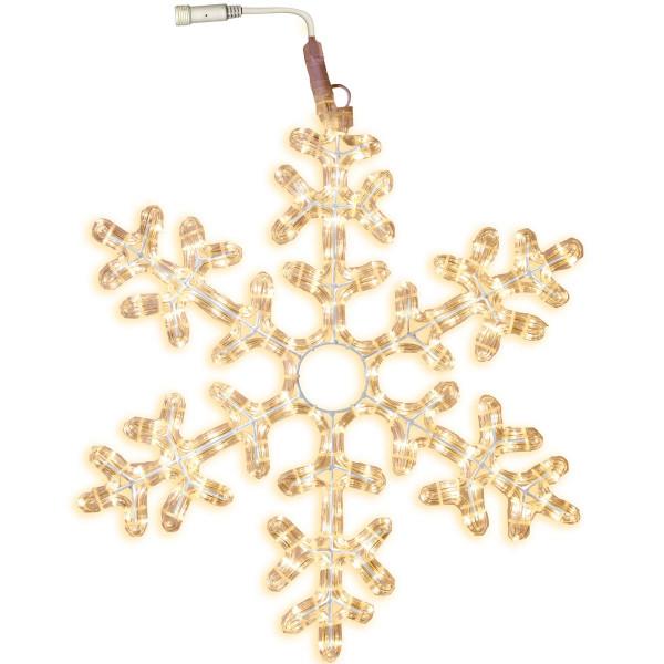 Schneeflocke LED Ø 50 cm mit Startkabel, 216 LED warmweiss, ausbaubar