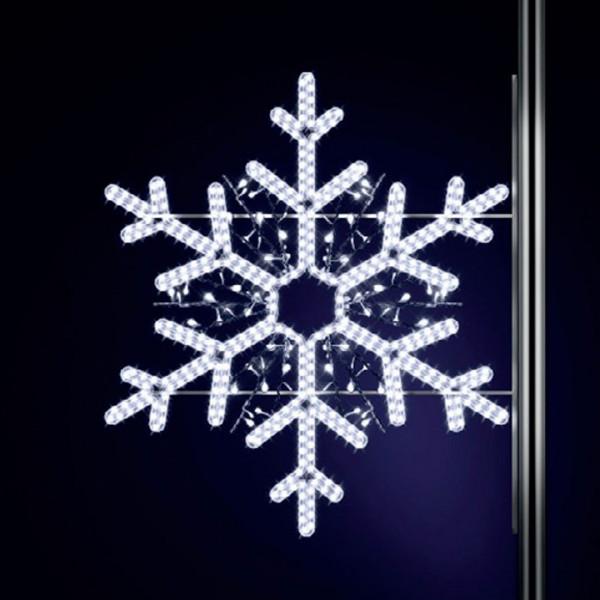 Schneeflocke Elba 130, H130, B130cm, kaltweiss, Strassenlampen, Kandelabermontage