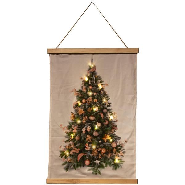 Wandposter beleuchteter Weihnachtsbaum 52x70cm