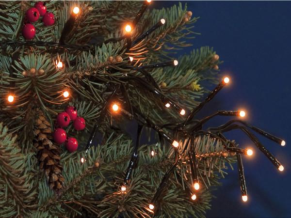 Clusterlichterkette Classic blinkend 1152 LED warmweiss, 690 cm