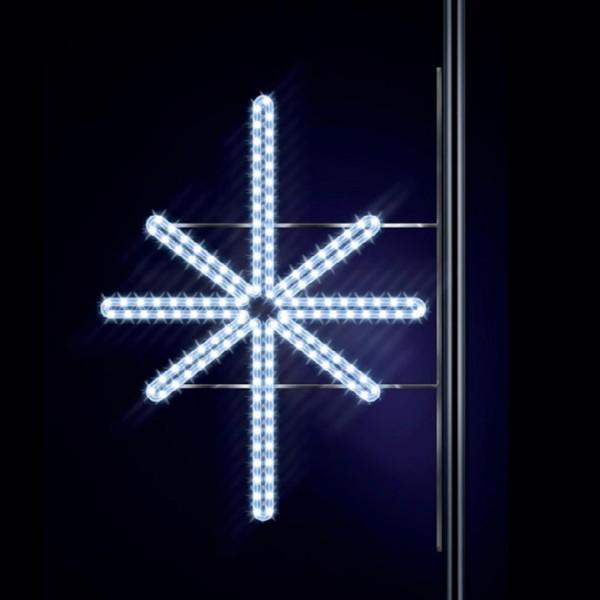 Leuchtstern Ardis 100, H100, B100cm, kaltweiss, Strassenbeleuchtung, Pfostenmontage