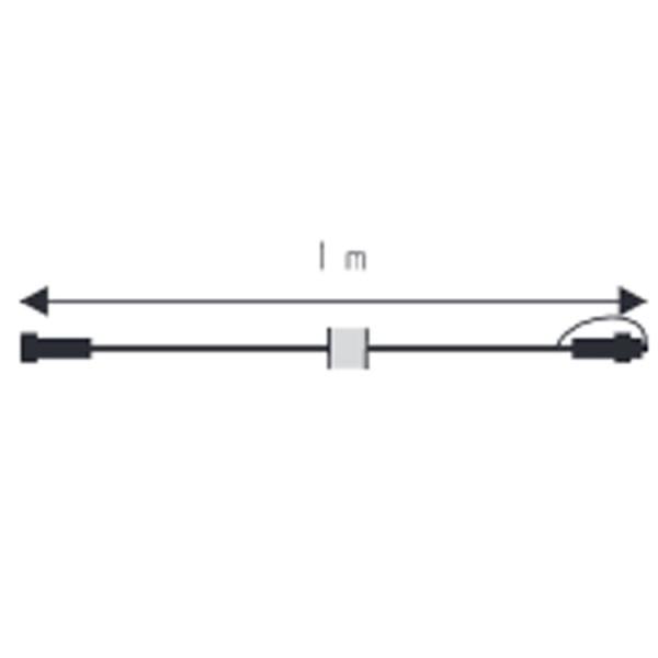 Verbinder Kabel, 100cm, max 1800W, weiss