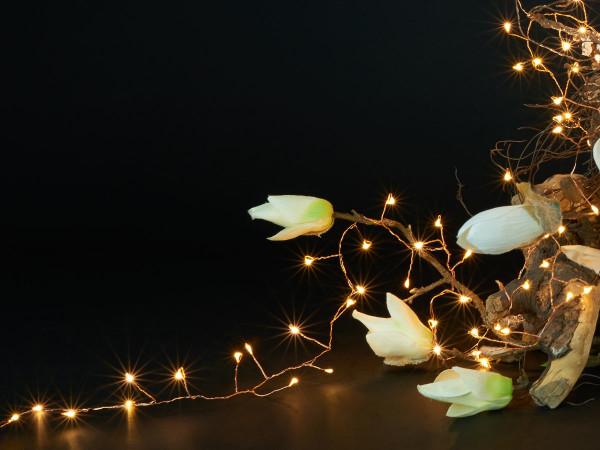 Ivy Lichterkette 900cm, kupfer, 400 LED warmweiss, Indoor