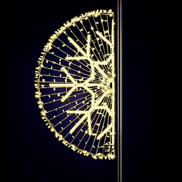 Lichtdesign Ogre 210, H210, B135cm, warmweiss, Kandelaberdeko, Pfostenmontage