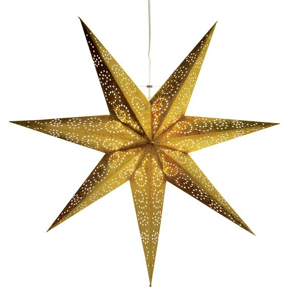Weihnachtsstern Antique Ø 60 cm gold, aus Papier, indoor