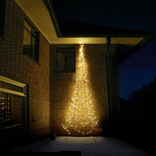 Fairybell Weihnachtsbaum H600cm, 450 LED, 180° Wandmontage