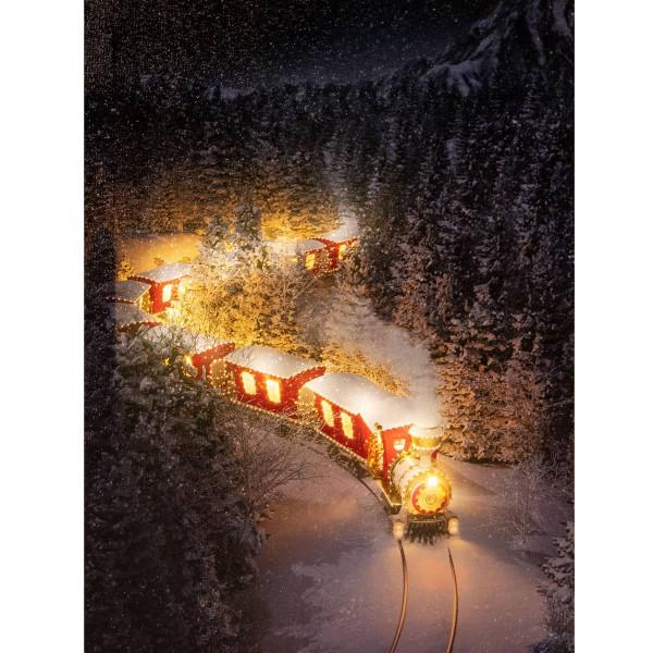 Leuchtbild LED Leinwand Zug Lichtzug 30x40cm