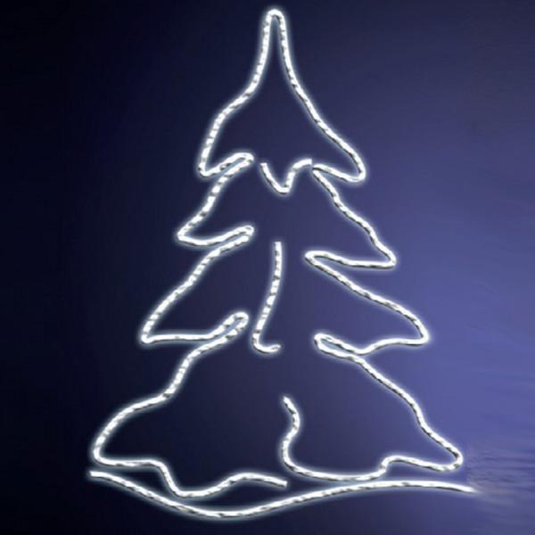 Leuchtsilhouette Karelia 155, H155, B120cm, kaltweiss, Fassadenmontage